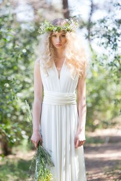 Rustic chic Bridal Gowns wedding dress ivory bridal by mimetik