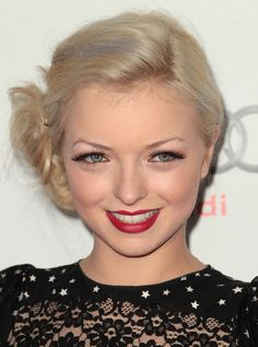 Francesca Fisher-Eastwood Bobby Pinned updo