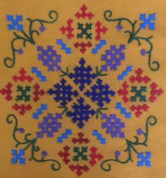 Pillow Embroidery, Hand Work Embroidery, Creative Embroidery, Embroidery Motifs, Embroidery Hoop Art, Hand Embroidery Designs, Cross Stitch Embroidery, Star Patterns, Sewing Patterns