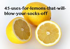 Most people are familiar with the traditional uses for lemons to soothe sore throats and add some citrus flavor to our foods. However the diversity of applications for lemons far exceeds general knowledge and once you read the following list, you'll likely want to stock at least a few lemons in your kitchen 24-7. 1.