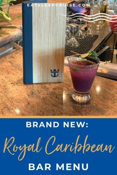 Just Revealed: Brand New Royal Caribbean Bar Menu - Just Revealed: Brand New Royal Caribbean Bar Menu - We have all the details and a copy of the brand new Royal Caribbean bar menu rolling out fleetwide to all cruise ships sailing in 2021. Cruise Checklist, Packing List For Cruise, Cruise Tips, Cruise Vacation, Royal Caribbean Ships, Royal Caribbean Cruise, Refreshing Cocktails, Fun Cocktails, Cocktail Menu