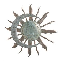 Recycled Metal Moon And Sun Wall Art in Metal Garden Wall Art ❤ liked on Polyvore featuring home, home decor, wall art, metal garden wall art, garden wall art, moon home decor, sun moon wall art and sun wall art