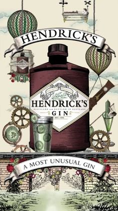 Created from a number of Hendricks assest images, prepared in photoshop and combined into this short promo in after effects. No sound was used for the client as… Wine Packaging, Packaging Design, Gin Quotes, Cheers, Mode Poster, Typography Love, Gin Lovers, Holiday Cocktails, Poster