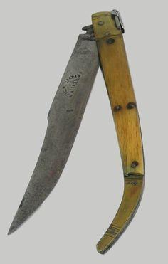 ANTIQUE SPANISH NAVAJA PASCUAL CARPIO ALBACETE  FOLDING KNIFE DAGGER  #PacualCarpioAlbacete