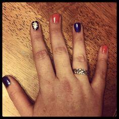 Denver Bronco nails