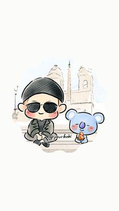 Fondos  para celular (@Your hobi) Bts Drawings, Bts Chibi, Bts Fans, Namjin, Jikook, Wallpaper S, Disney Characters, Fictional Characters, Fanart