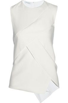 Narciso Rodriguez Wrap-effect silk-crepe top   NET-A-PORTER