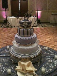 Trifles Bejeweled Lavender Wedding Cake