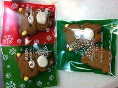 Homemade Rilakkuma Gingerbread all dressed up for Christmas!