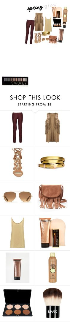 """Untitled #23"" by gabrielamilenk ❤ liked on Polyvore featuring Pierre Balmain, Chicnova Fashion, BCBGeneration, Stella & Dot, Apt. 9, Iris & Ink, St. Tropez, Sun Bum, NYX and Forever 21"