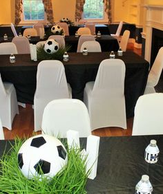 Soccer Theme Baby Shower | CatchMyParty.com