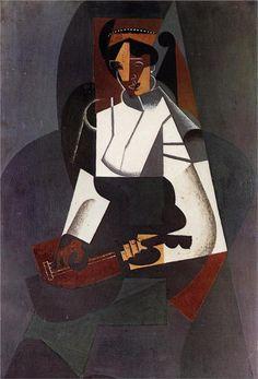 """MusicArt📜 CUBISMO  """"Woman  with a MANDOLIN"""". Juan GRIS (1887-1927), fue un pintor español que desarrolló su actividad principalmente en París como uno de los maestros del cubismo.  MANDOLINA  o bandolín es un instrumento musical de 4 órdenes dobles creado hacia 1700. El número y tipo de cuerdas de la mandolina ha variado con el tiempo y el lugar, pero la configuración predominante en la actualidad es mandolina napolitana, con cuatro cuerdas dobles afinadas como el violín (sol-re-la-mi). Las…"""