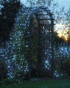solar-powered string lights.