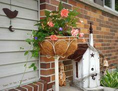 repurposed floor lamp planter, container gardening, gardening, repurposing upcycling