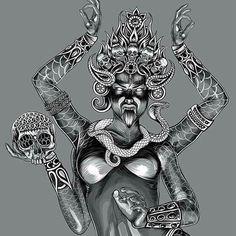 Angry goddess