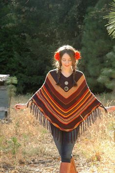 Free Size... Striped Boho Poncho... Super Light by AstralBoutique, $38.00