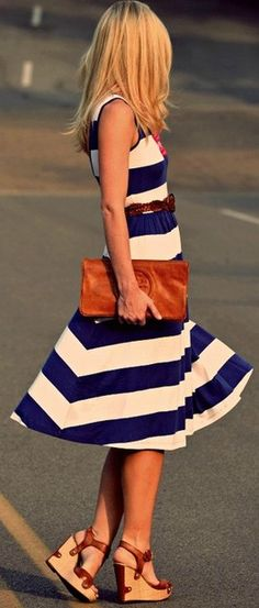 striped pretty Street fashion