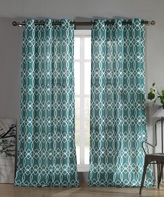 This Teal Newbourne Grommet Panel - Set of Two by Duck River Textile is perfect! #zulilyfinds