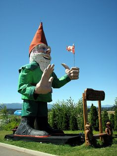 World Famous Gnome, Nanoose Bay World Famous, Vancouver Island, British Columbia, Gnomes, Making Out, Worlds Largest, Statue Of Liberty, Places To Go, Canada