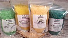 Variety Bath and Foot Soak, 8oz, Solar Sea Salt Soak, Magnesium Soak, European Spa Salts, Vegan Bath Salts by MacSudsBody on Etsy