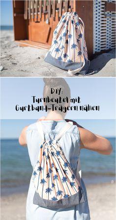 DIY: Beutel mit Trägern aus Gurtband nähen