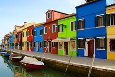 Duhový ostrov Burano Itálie