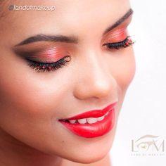 Fabulous look by @landofmakeup using Motives lipstick, foundation and mineral gel eyeliner in LITTLE BLACK DRESS