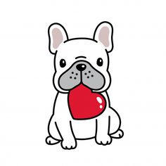 "Awesome ""Bulldog puppies"" info is readily available on our internet site. French Bulldog Drawing, Cute French Bulldog, Karten Diy, Dog Illustration, Marianne Design, Valentine Heart, Valentines, Animal Drawings, Easy Drawings"
