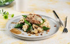 Bravčové steaky s gorgonzolou a mandľami Lidl, Chicken, Meat, Food, Eten, Meals, Cubs, Kai, Diet