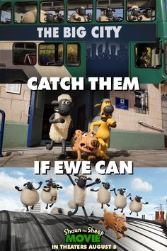 #ShaunTheSheep is headed to the Big City for a big adventure! Catch them in theaters August 5th, 2015.