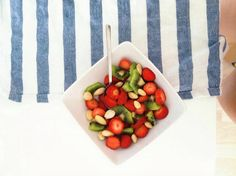 Fruit salad with almonds Almonds, Fruit Salad, Plastic Cutting Board, Instagram, Fruit Salads, Almond Joy, Almond