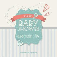ベビーシャワーのためのかわいいヴィンテージカード