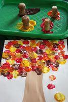 LLUVIA DE IDEAS: Recursos: Técnicas plásticas para trabajar el otoño