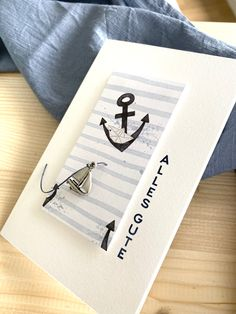 Glückwünsche,alles Gute, Geburtstag, Anker, maritim, Segelboot, Creative Depot, Papier & Passion, Papier und Passion Creative Depot, Paper, Sailboats