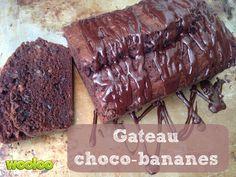 Gâteau chocolat bananes Desserts Français, Dessert Parfait, Biscuits, Muffins, Chocolate Cake, Banana, Beef, Ethnic Recipes, Food