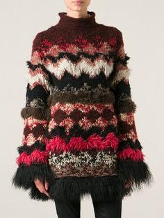 Jean Paul Gaultier Vintage Fur Trim Knit Sweater - House Of Liza - Farfetch.com