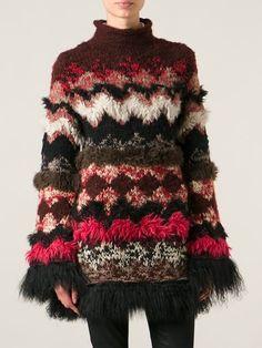 Jean Paul Gaultier Vintage Fur Trim Knit Sweater - House Of Liza - Farfetch.com