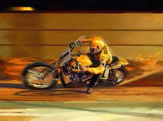 """# 3 The Legendary 1975 Yamaha TZ750 & Kenny Roberts - Roberts at Indy riding the """"Beast"""" trimming the bales..."""