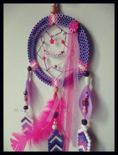 "Collection Attrape-Rêve ""DREAM "" - Dreamcatcher hama beads by Alice Tobbi"