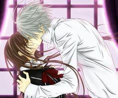 It's yuuki  and zero from vampire knight! I wish I had the love like in animes