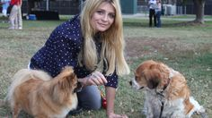 Mischa Barton with Ziggy and Charlie.