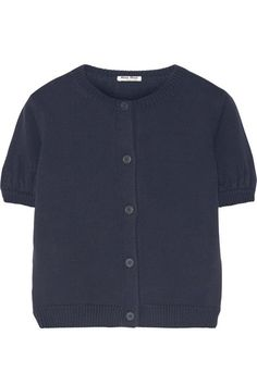 Midnight-blue cotton Button fastenings through front 100% cotton Dry clean Made in Italy