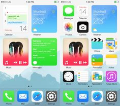 Imagining a redefined homescreen in iOS 8