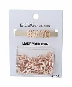 BCBGeneration Make Your Own Word Bracelet #accessories  #jewelry  #bracelets  https://www.heeyy.com/suggests/bcbgeneration-make-your-own-word-bracelet-nude-rose-gold/