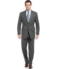 Lauren Ralph Lauren Grey Sharkskin Suit Separates - Suits & Suit Separates - Men - Macy's