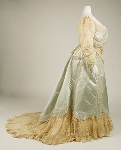 Evening dress (image 3) | House of Worth | French | 1890s | silk | Metropolitan Museum of Art | Accession Number: C.I.48.70.2a, b