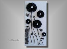 Acrylmalerei - 3D Blumen auf Keilrahmen #006 - ein Designerstück von SoMa-Art bei DaWanda