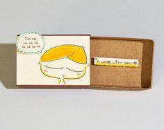 Cute Love Card / Anniversary Card/ Proposal Card / Matchbox