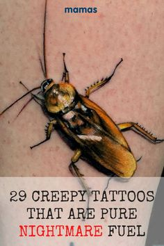 29 Creepy Tattoos That Will Make You Crave Halloween For some, every day is Halloween. These 29 creepy tattoos bring the fright factor 365 days of the year. #tattoos #scaryTattoos