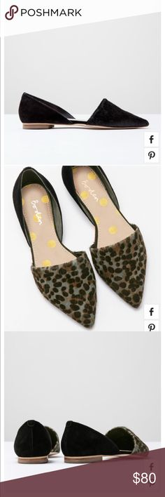 Boden Cleo Flat Point NWOT BODEN Cleo flat point. Size 9.5, all black, never used, pony hair Boden Shoes Flats & Loafers